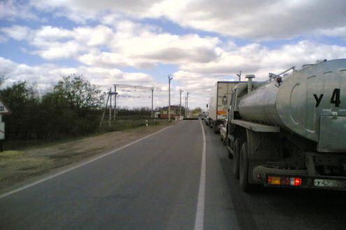 Трасса М21, железнодорожный перезд Горка