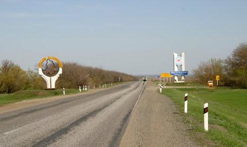 Трасса М21, на границе Ростовской и Волгоградской области