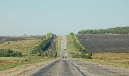 Дорога Р158 в Саратовской области
