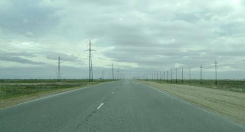 Дорога в тундре, трасса от Нового Уренгоя до Ямбурга