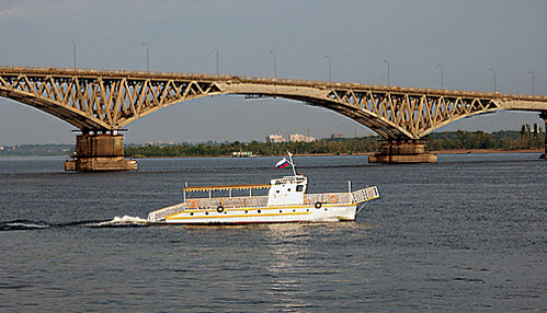 Мост через Волгу в Энгельсе, как доехать до Абхазии