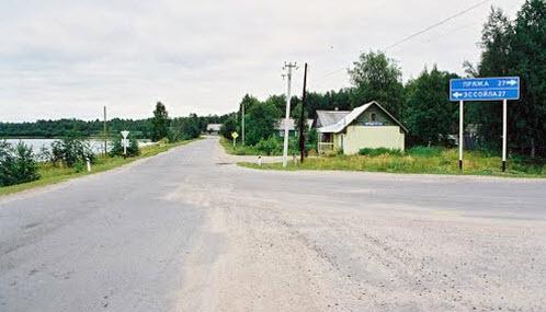 Трасса Р21 в Крошнозеро