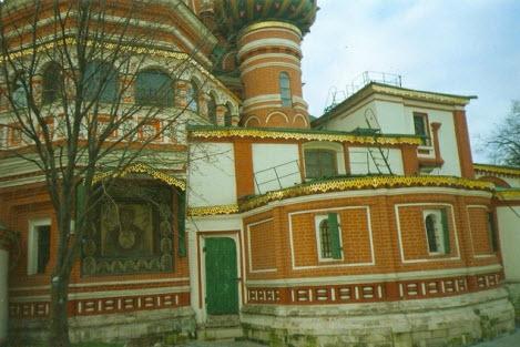 Храм Василия Блаженного, фрагмент стены