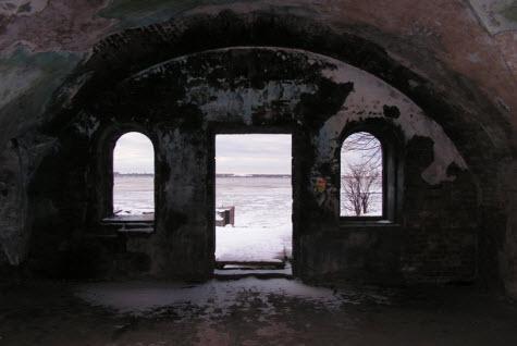 Внутри Форт 7-ой Северный, кронштадт