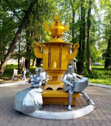 Памятник самовару, Суксун, трасса Р242