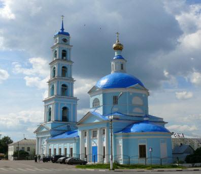 Введенская церковь, Кашира, трасса Р115