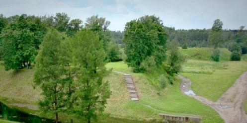 Вид на крепость Ям, Кингисепп, трасса М11