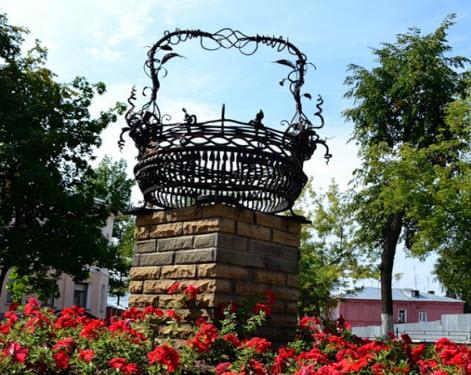 Памятник корзине, егорьевск, трасса Р115