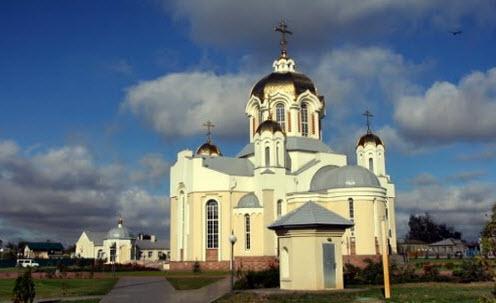 Собор в городе Россошь, трасса Р194