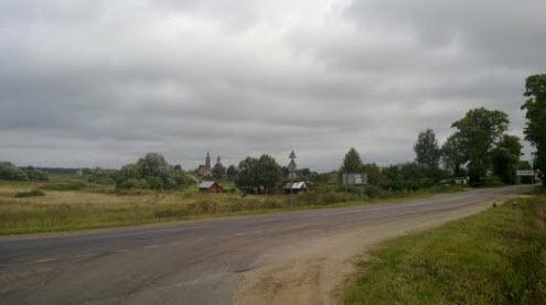Трасса Р107, возле Ханево