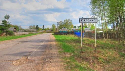 Трасса Р85, поселок Красуха