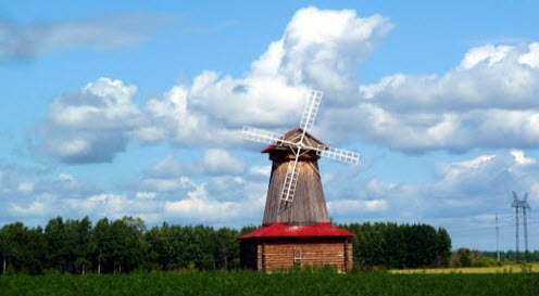 Ветряная мельница, Трасса Р404, Дубровное