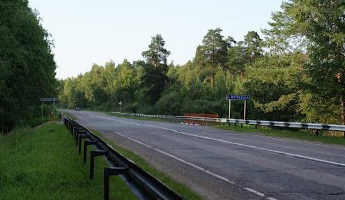 Трасса Р112, мост через речку Ветелка
