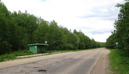 Трасса Р116, остановка Вандышево