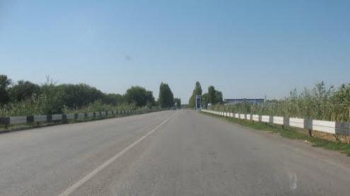 Трасса Р270, в районе поселка Целина