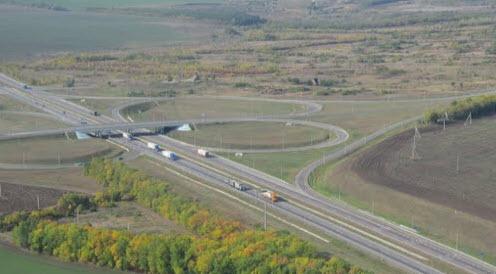 Трасса Р272 и трасса М4 развязка