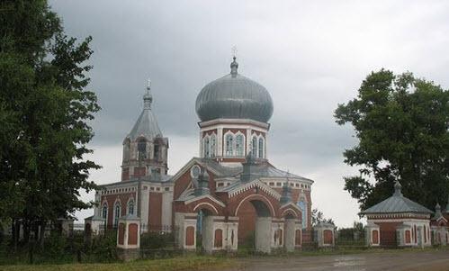 Успенская церковь,село Печенкино, трасса р157