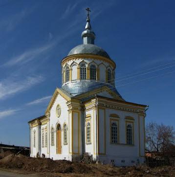 Церковь Покрова Пресвятой Богородицы, Каргаполье, трасса р354