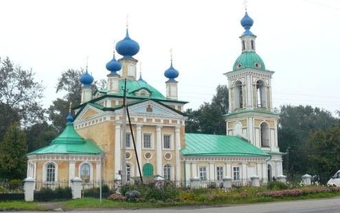 Церковь царевича Дмитрия, Углич, трасса р153