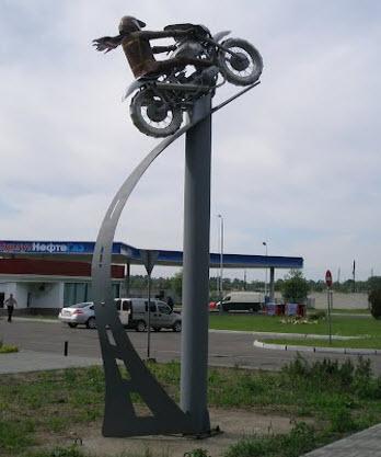мотоциклист, советск, трасса А216