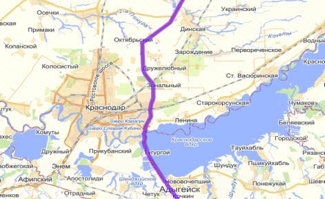 Объезд Краснодара трасса Дон