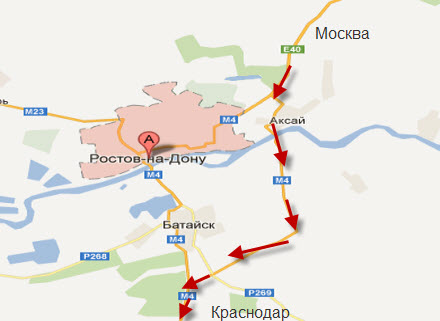 Объезд Ростова-на-Дону по трассе Дон