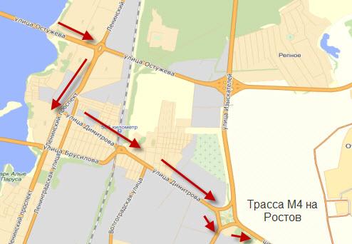 Схема проезда Воронеж, часть 2