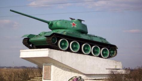 Танк Т-34, трасса Р130, Демидов