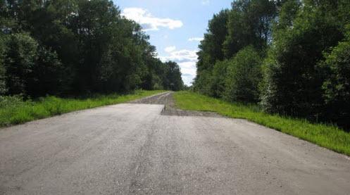 Трасса Р134, конец асфальта