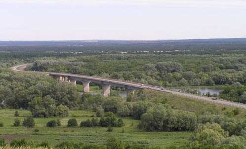 Трасса Р271, мост через Дон