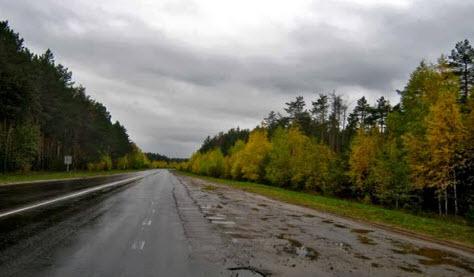 дорога в Рязанской области