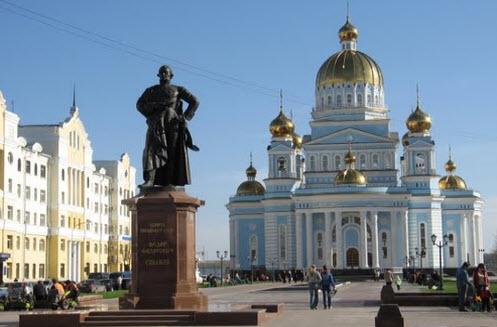 Кафедральный собор, памятник Ушакову, Саранск, трасса Р179
