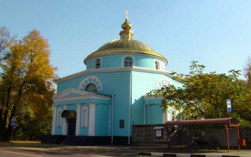 Церковь иконы Всех Скорбящих Радости, трасса р109