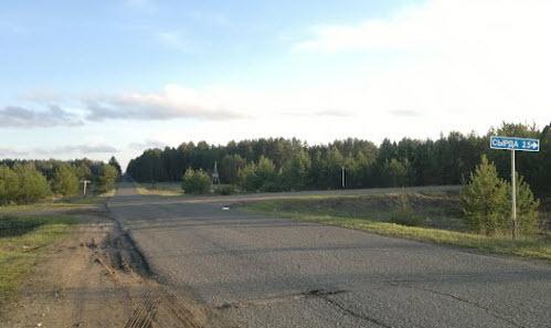 дорога Р-168, поворот на сырда