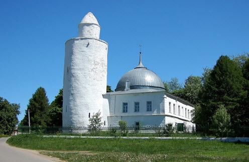 мечеть, минарет, касимов, трасса Р124