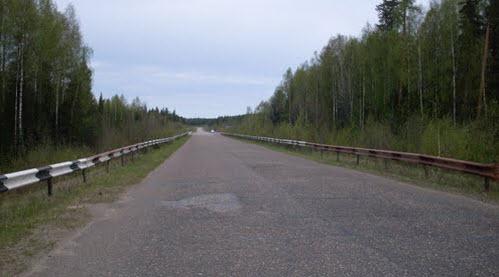 трасса Р27 возле Яренска