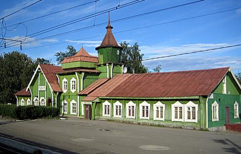 Вокзал в Медвежьегорске, трасса р17
