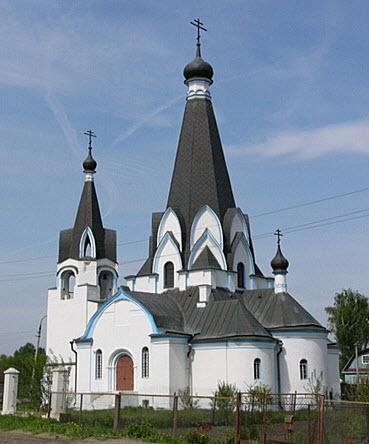 Георгиевский храм, Новохаритоново, трасса Р105