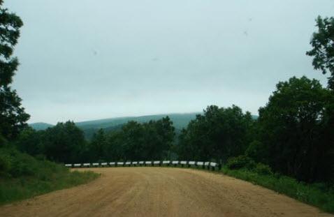 Трасса А183 на перевале