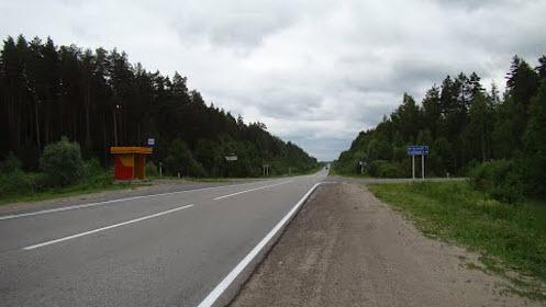 дорога р231, поворот на Большие Алгаши