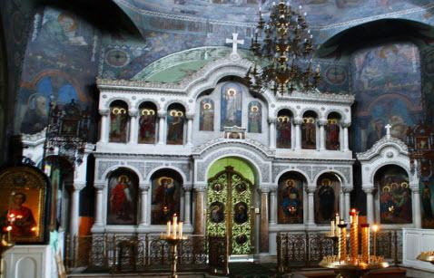 мраморный иконостас Троицкая церковь, Тума, трасса р105
