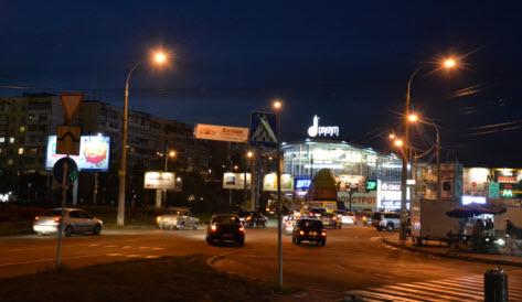 Киев ночью, поездка в Киев