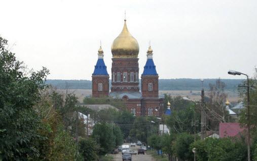 Михайло-Архангельский собор, Сердобск, трасса р235