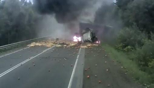 авария на трассе Челябинск - Москва