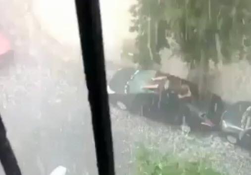 как защитить машину от града