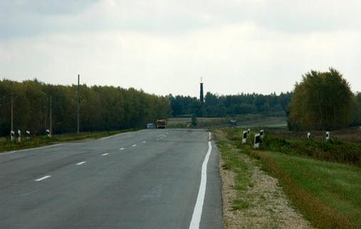 трасса р145 возле Куликова Поля