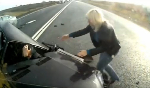 чудовищная авария  машина вдребезги