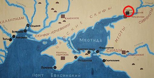 карта танаис