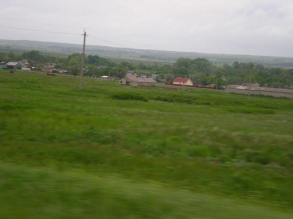 трасса Обливская - Вешенская пейзаж за окном