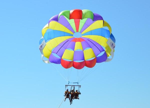 катание на парашюте